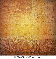 grungy, marrón, pared
