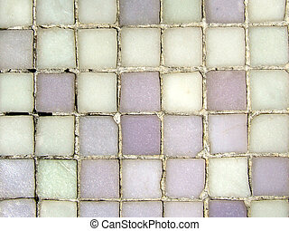 Grungy purple mosaic pattern close-up