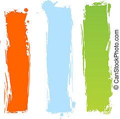 grungy, multicolor, bandiere, verticale