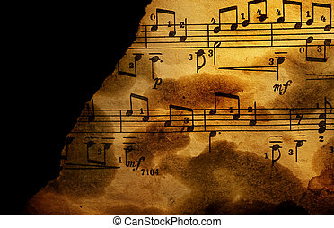 Grungy musical background
