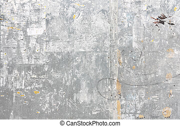 grungy, muur, metaal