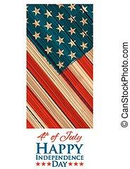 Grungy, norteamericano, bandera, Plano de fondo