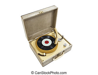 Grungy Old REcord Player
