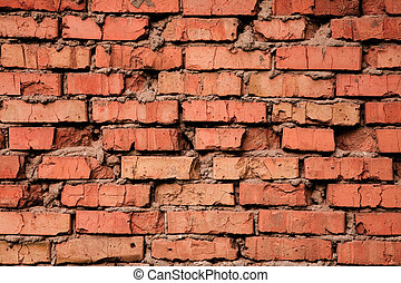 Grungy old red brick texture