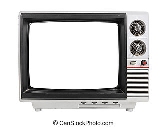 Grungy Old Television Isolated