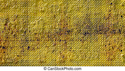 Grungy Old Yellow Metal Texture
