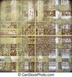 Grungy oriental decorative textured background