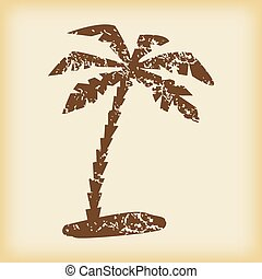 Grungy palm icon