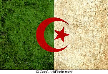 Grungy paper flag of Algeria
