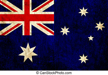 Grungy paper flag of Australia