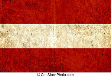 Grungy paper flag of Austria