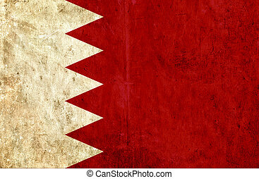 Grungy paper flag of Bahrain
