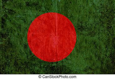 Grungy paper flag of Bangladesh