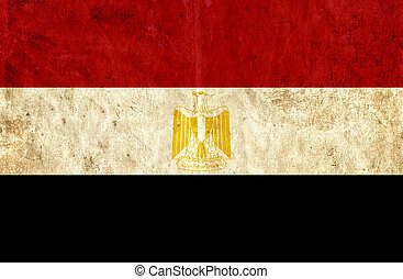 Grungy paper flag of Egypt