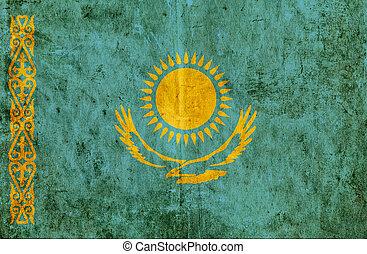 Grungy paper flag of Kazakhstan