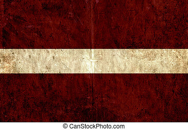 Grungy paper flag of Latvia