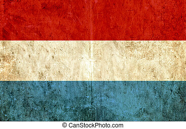 Grungy paper flag of Luxembourg