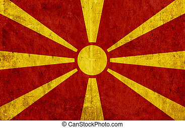 Grungy paper flag of Macedonia