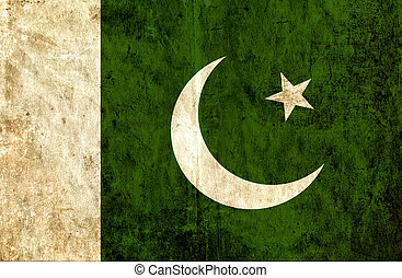 Grungy paper flag of Pakistan