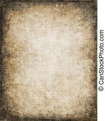 Grungy Paper Vignette - An old, vintage paper background...