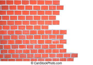 grungy, parete, mattone, cornice
