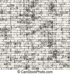 grungy, parete, mattone