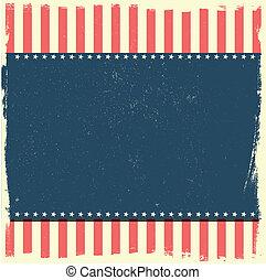 grungy, patriotique, fond