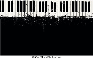 grungy piano background
