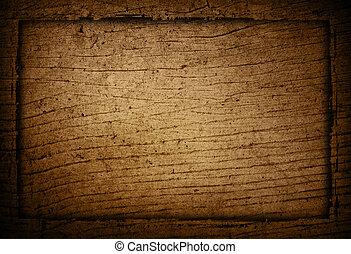 grungy, quadro, madeira, fundo