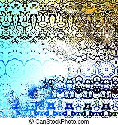 Grungy Retro Artwork. Pattern. - Grungy Retro Artwork....
