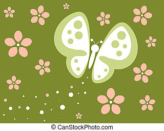 Grungy Retro Butterfly
