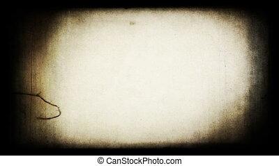 Grungy retro film projector screen frame. HD (1080p), VJ (loop).