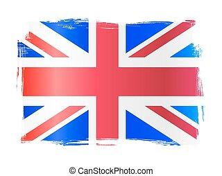 grungy, royaume, drapeau, uni