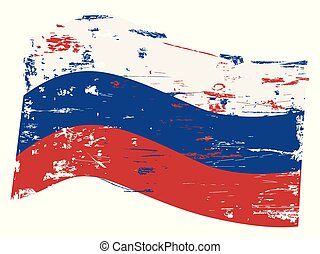 grungy russia flag background