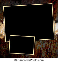 Grungy Rusted Page Template - Funky paint splatter...