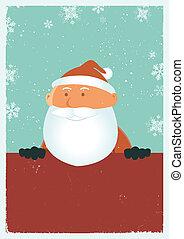 Grungy Santa Poster