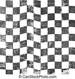grungy, schaakbord, achtergrond