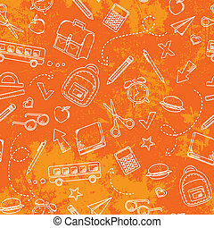 grungy school pattern - seamless pattern with grungy texture...