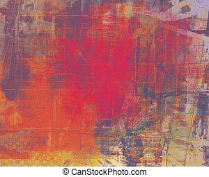 Grungy Scrunchy - A grungy orange background