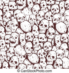 grungy skull - Conjoined grungy stylized skull for prints...