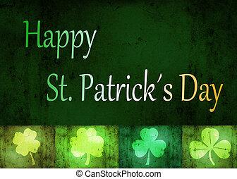 Grungy St. Patrick?s Day Shamrocks