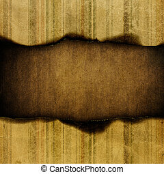 Grungy striped paper background, with space for text.
