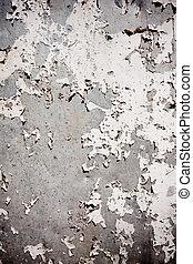 grungy, strukturerad, bakgrund, med, skalande, vägg