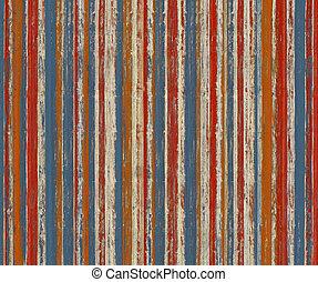 grungy, strukturerad, måla, stripes