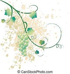 grungy, szőlőtőke, ábra
