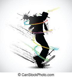 grungy, táncos