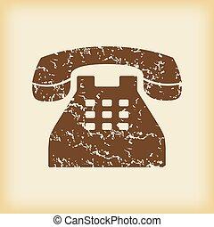 grungy, téléphonez icône