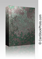 Grungy texture box package - Software package box Grungy...