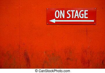 grungy, théâtre, signe