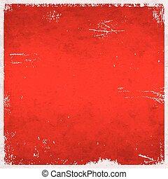 grungy, themed, boże narodzenie, tło, czerwony